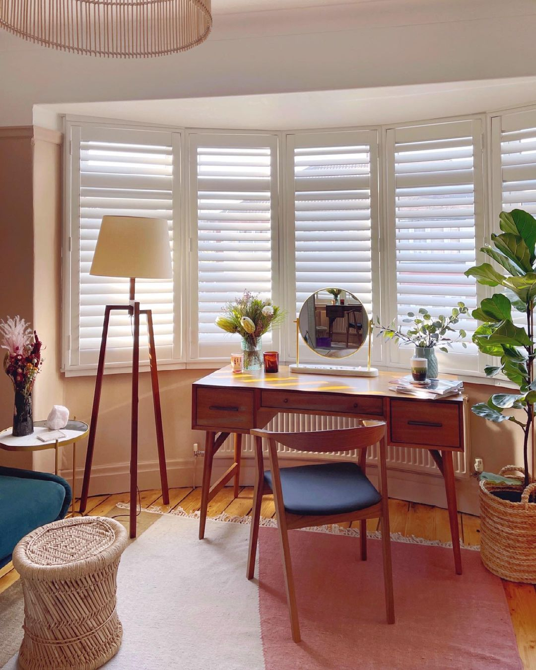 Plantation shutters are insulating powerhouses.