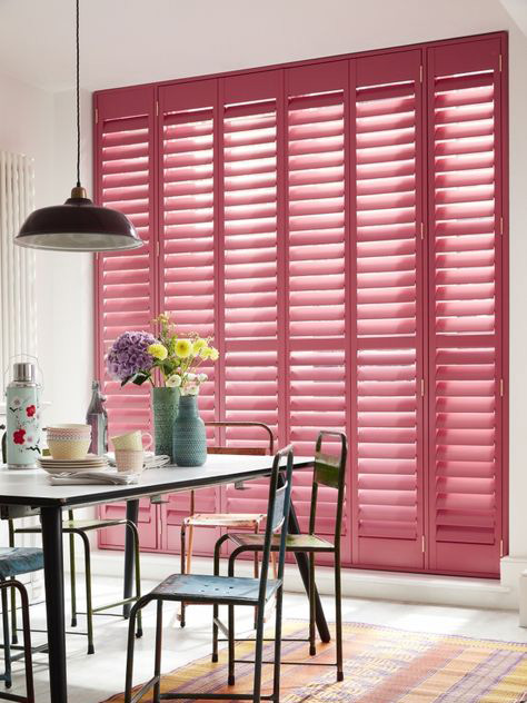 Rainbow Colored Shutters: Pink