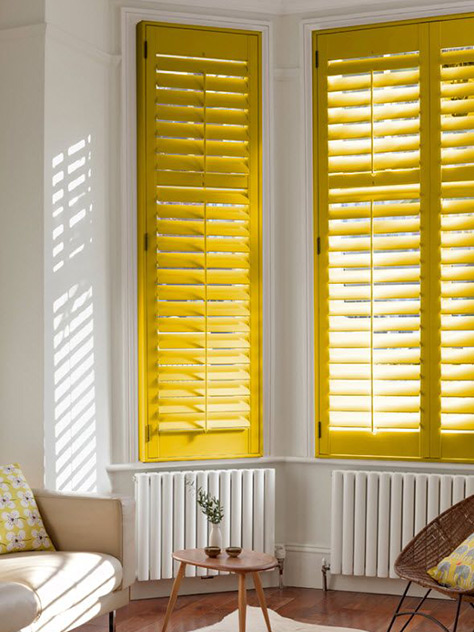 Rainbow Colored Shutters: Yellow