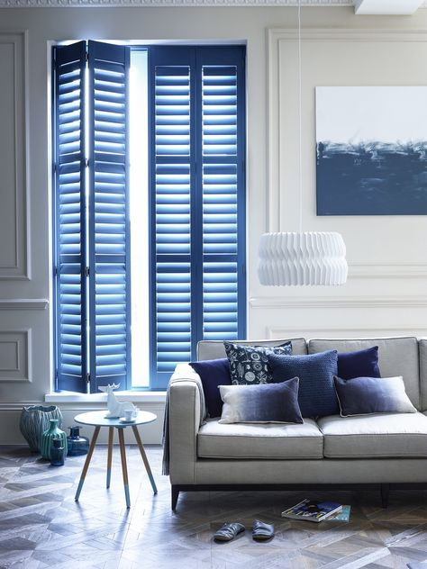Rainbow Colored Shutters: Blue