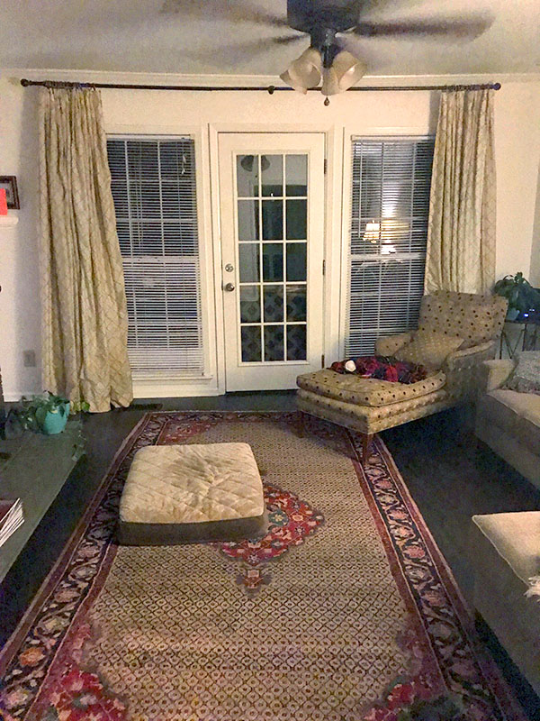 Cahaba Heights den before room transformation