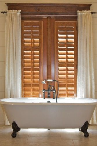 Wood-Stained Plantation Shutters1