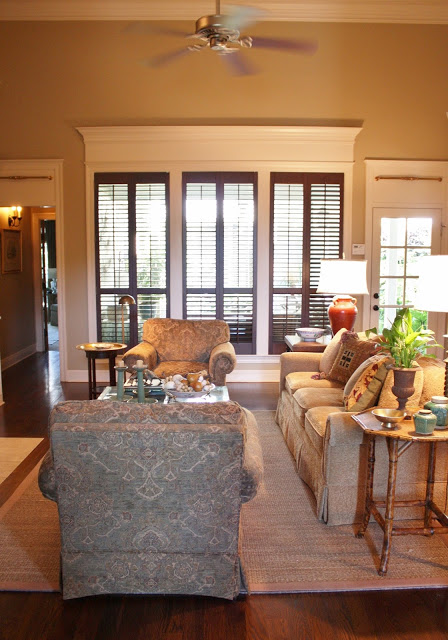 Wood-Stained Plantation Shutters 4
