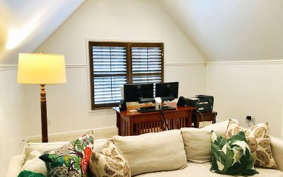 Wood-Stained Plantation Shutters
