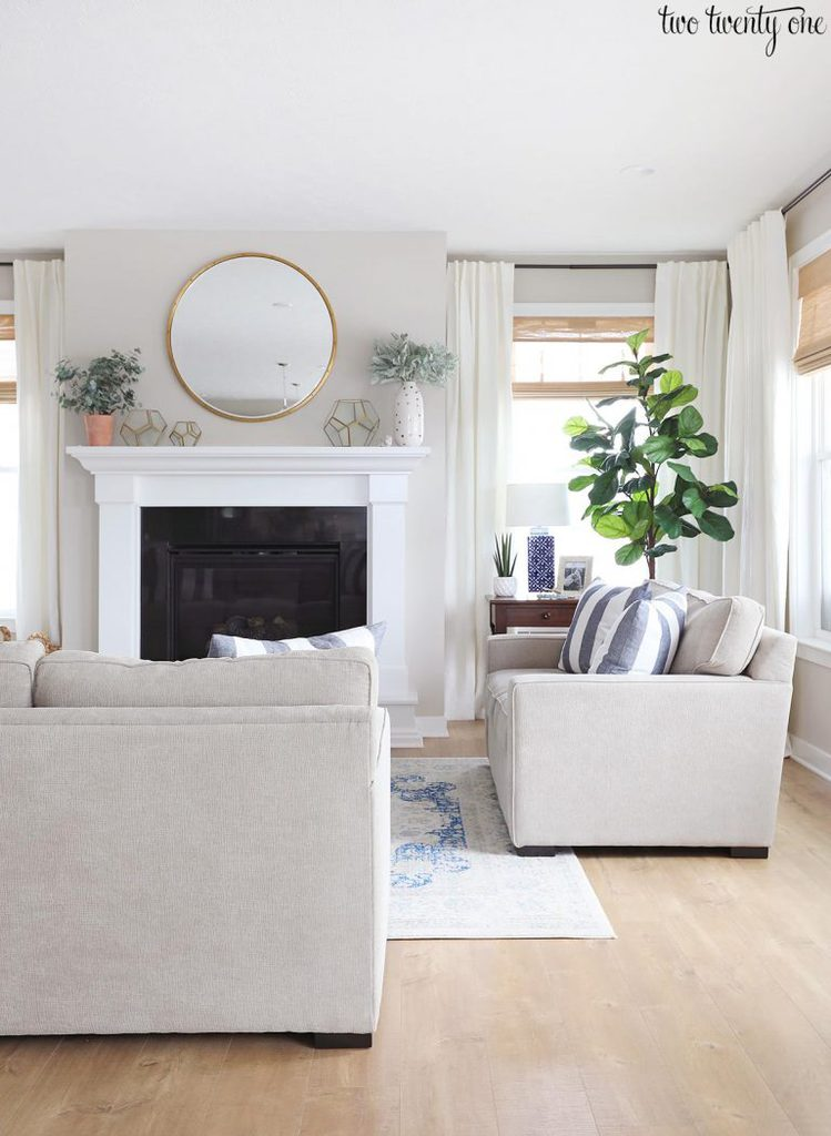 Woven Wood Shades in a White Room